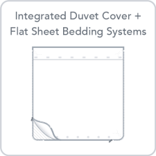Integrated Duvet Cover + Flat Sheet Bedding Systems